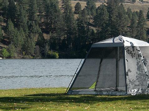 Tent camp site at Black Beach Resort