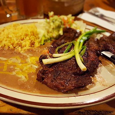 Esther's carne asada platter.