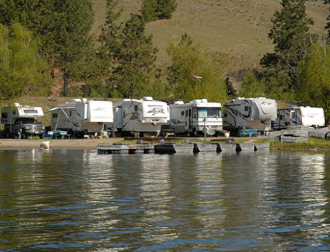RV sites at Tiffany's. Located on the shoreline.