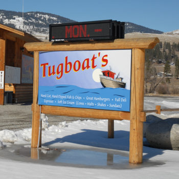 Tugboat's sign.