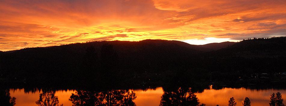 Sunset over Curlew Lake, WA