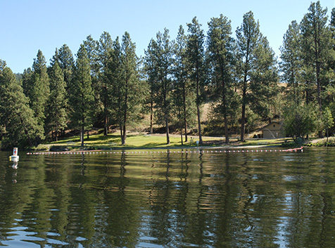 Swim area of Curlew Lake State Park
