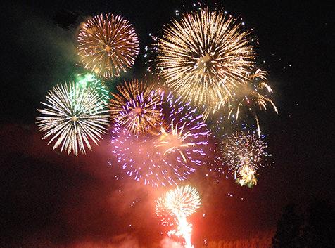 Fireworks display on Curlew Lake, WA