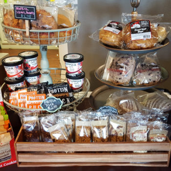 Display of tasty all-day cookies and pastries, and breakfast treats.